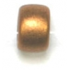 Glass Mini Crow Bead 6mm Metallic Dark Gold
